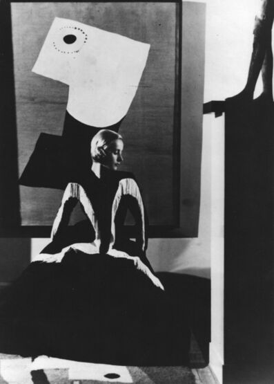 George Hoyningen-Huene, 'Art in Fashion: Model in Balenciaga in front of painting by Miro, photographed in Helena Rubenstein's Paris Home', 1939