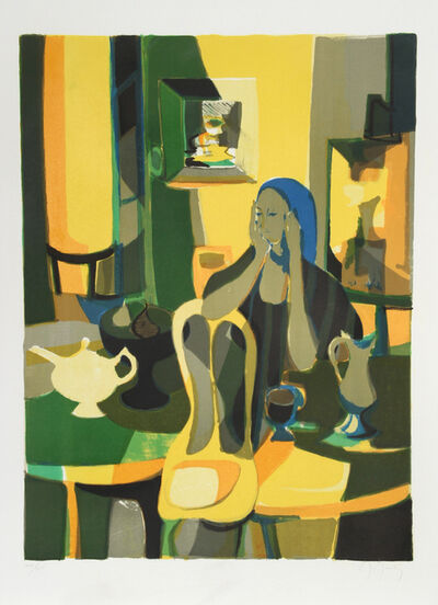 Marcel Mouly, 'At the Cafe', ca. 1977