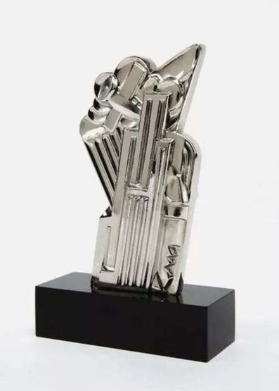 Roy Lichtenstein, 'Salute to Airmail (Chromium)', 1968