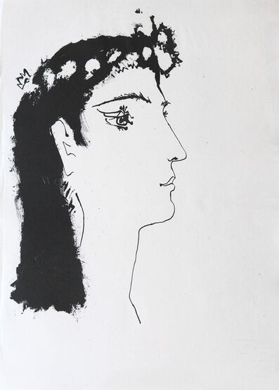 Pablo Picasso, 'Head of a woman crowned with flowers', 1948