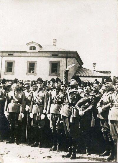 Unknown, 'Mussolini In Oath Ceremony', 1935