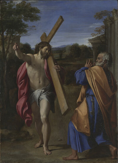 Annibale Carracci, 'Christ appearing to Saint Peter on the Appian Way (Domine, Quo Vadis?)', 1560-1609