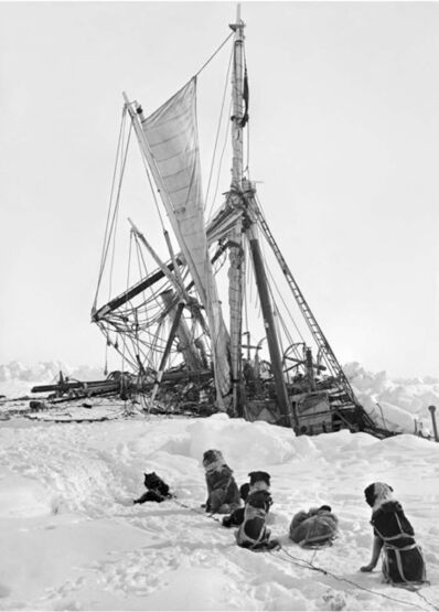 Frank Hurley, 'The Endurance crushed by the ice packs 300 miles from land', 1914-1917