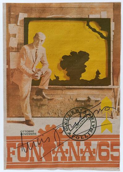 Lucio Fontana, 'Fontana '65', 1965