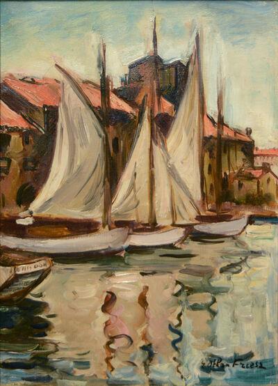 Emile Othon Friesz, 'Sailboats at the Quai du Parti, Toulon, 1926', ca. 1926