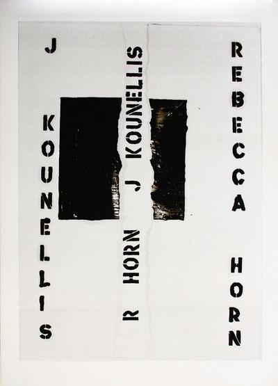 "Jannis Kounellis, '""J. Kounellis Rebecca Horn."" Poster ', 1986"
