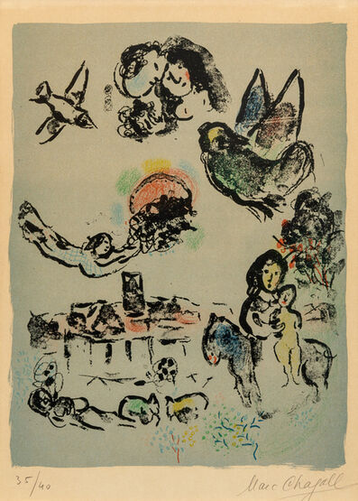 Marc Chagall, 'Nocturne a Venice'