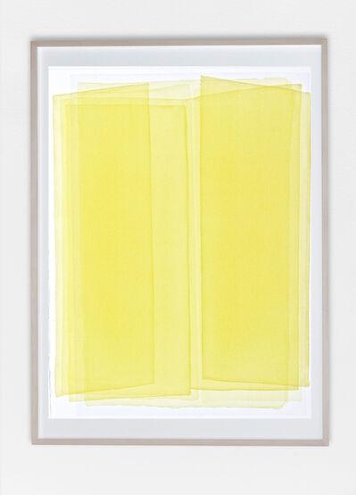 Joachim Bandau, 'Yellow watercolor', 2005