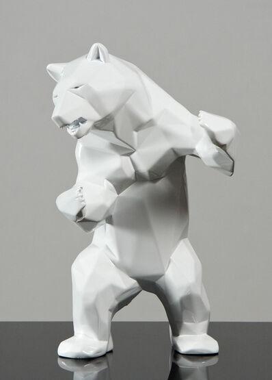 Richard Orlinski, 'Wild white bear'