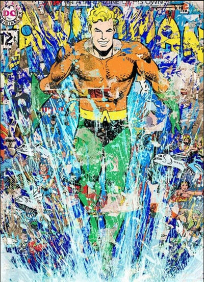 Mr. Brainwash, 'Aquaman', 2018