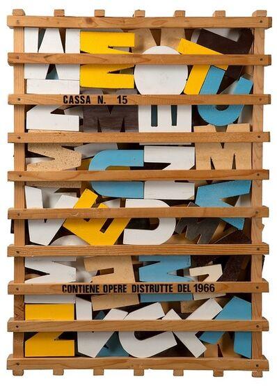 Guglielmo Achille Cavellini, 'Cassa che contiene opere distrutte n. 15', 1966