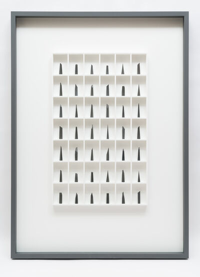 Paul Fry, '42 pieces of graphite (the edge of silence)', 2019