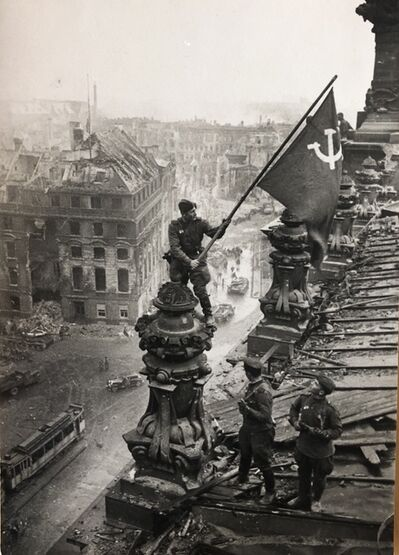 Yevgeny Khaldei, 'Banner of Victory Over Reichstag, Berlin, 1945', Printed later