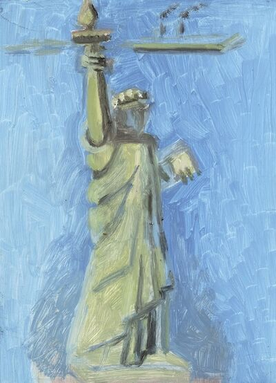 Lois Dodd, 'Statue of Liberty + Island', 2018