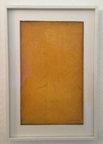 Lothar Quinte, 'Yellow gouache', 2000