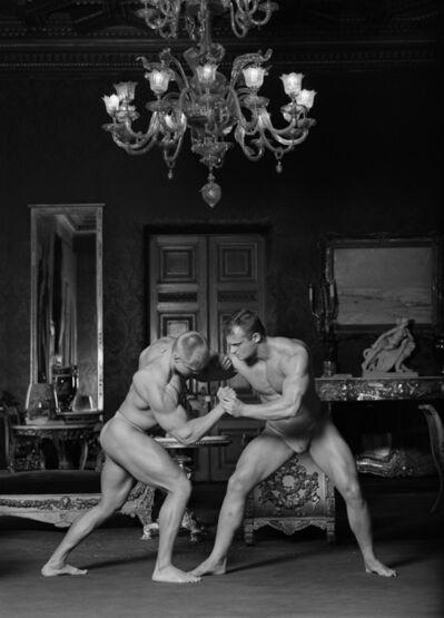Valery Katsuba, 'Wrestlers in the Grand Prince Vladimir palace', 2002