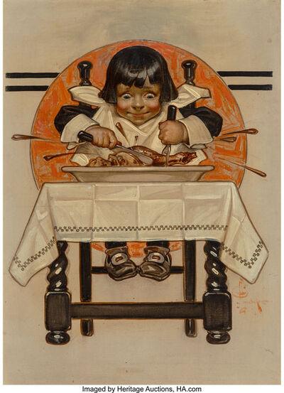 Joseph Christian Leyendecker, 'Thanksgiving, The Saturday Evening Post cover', 1910