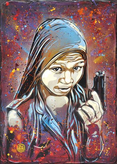 C215, 'Enfant Soldat (After Steve McCurry)', 2016