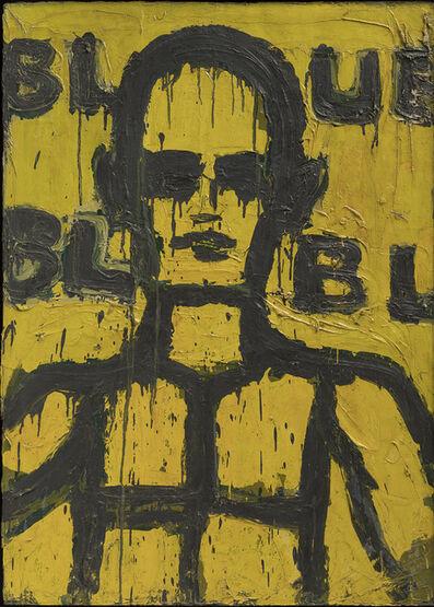 Lester Johnson, 'Milford Head (Blue)', 1965