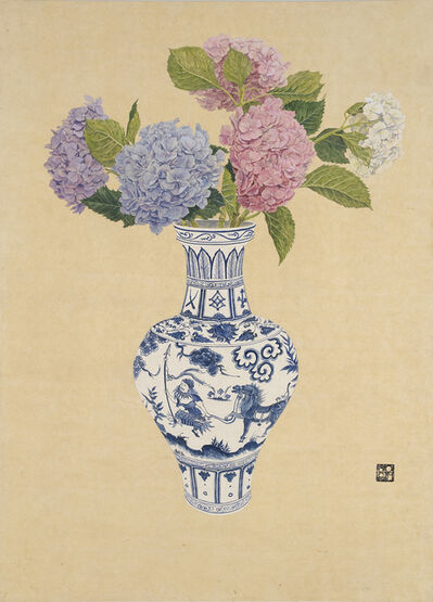 Jungeun Lee, 'Richness vase - Hydrangea', 2016
