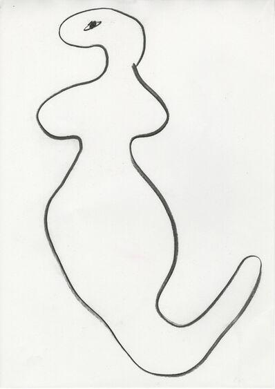 """Pauline Curnier Jardin, 'Preparatory Sketch for """"Puddle Ladies""""', 2018"""