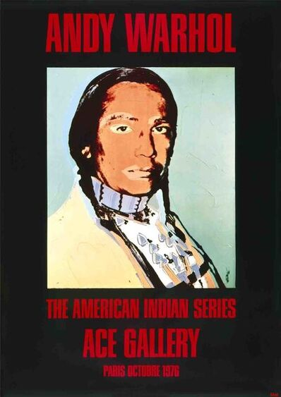 Andy Warhol, 'American Indian Portrait (Black)', 1976