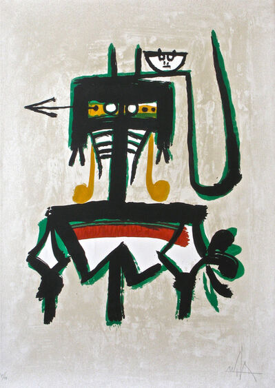 Wifredo Lam, 'Barcelona (with green)', 1976