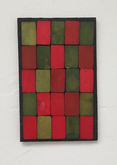 Luis Romero, ' Verde/Rojo (damero)', 2019