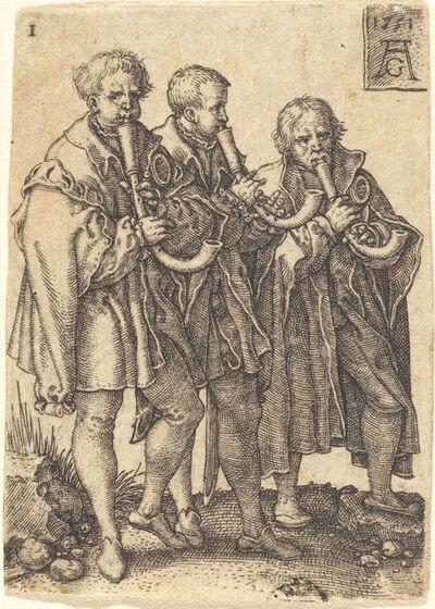 Heinrich Aldegrever, 'Three Musicians', 1551