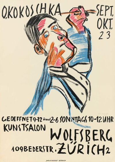 Oskar Kokoschka, 'Self-portrait as a painter', 1923