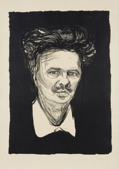 Edvard Munch, 'August Strindberg', 1896