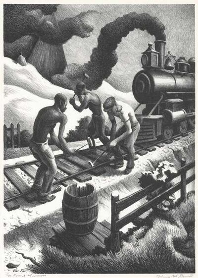 Thomas Hart Benton, 'Ten Pound Hammer (F. 79)', 1967