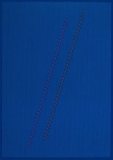 Julian Stanczak, 'Pathway in Blue', 1992