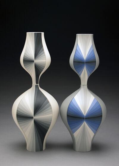 Peter Pincus, 'Grey Contrasting Gradient Vessels', 2018
