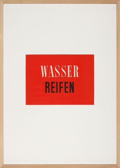Franz Erhard Walther, 'WASSER REIFEN', 1958