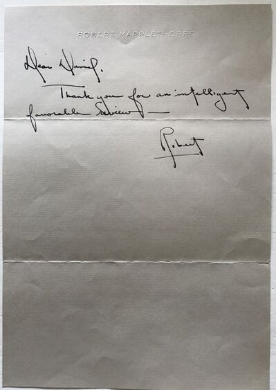 Robert Mapplethorpe, 'Letter for David Bourdon.', 1977
