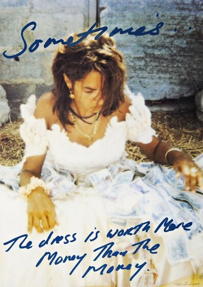 Tracey Emin, 'Sometimes the Dress is Worth More Money than the Money ', 2001