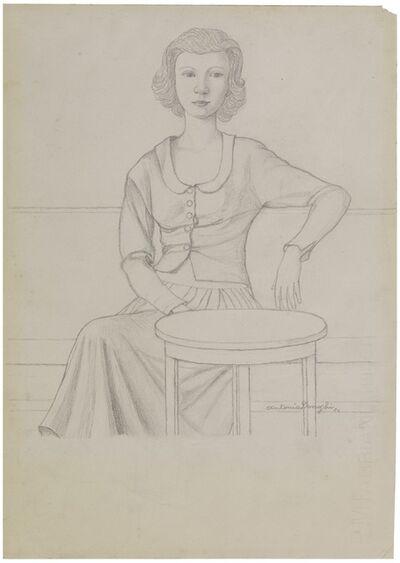 Antonio Donghi, 'Figura Femminile', 1950