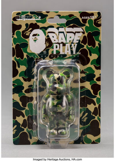 BE@RBRICK X BAPE, 'Camo 100% (Green)', 2012