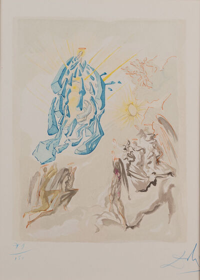 Salvador Dalí, 'La Divine Comédie: Paradise Canto 26 - Dante recouvre la vue  (Prestel 1131) (Dante Recovers his Sight)', 1960