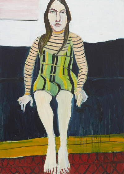 Chantal Joffe, 'Esme on the Blue Sofa II', 2018