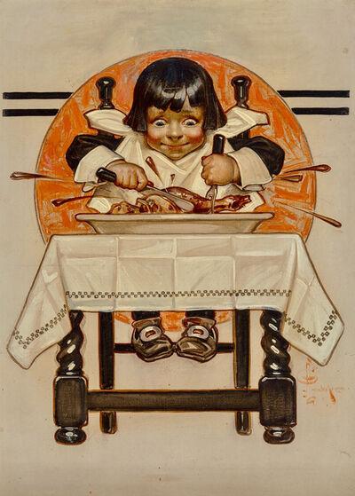 Joseph Christian Leyendecker, 'Thanksgiving, The Saturday Evening Post cover, November 12, 1910', 1910