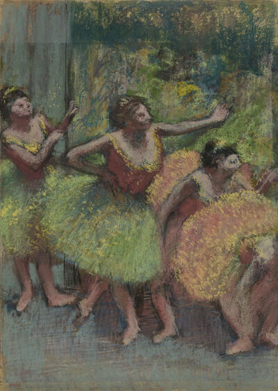 Edgar Degas, 'Dancers in Green and Yellow,', ca.1903