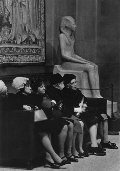 Eva Rubinstein, 'Women and statue, New York', 1970