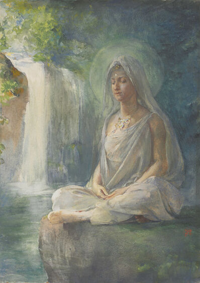 John La Farge, 'Meditation of Kuwannon', ca. 1886