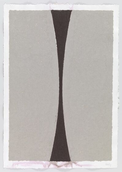 Ellsworth Kelly, 'Colored Paper Image XI (Gray Curves with Brown)', 1976