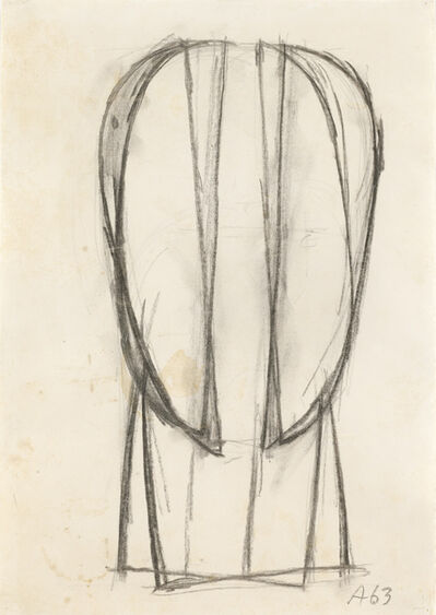 Joannis Avramidis, 'Study of a Head', 1963