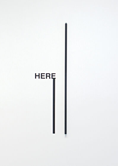 Peter Downsbrough, 'HERE', 2009