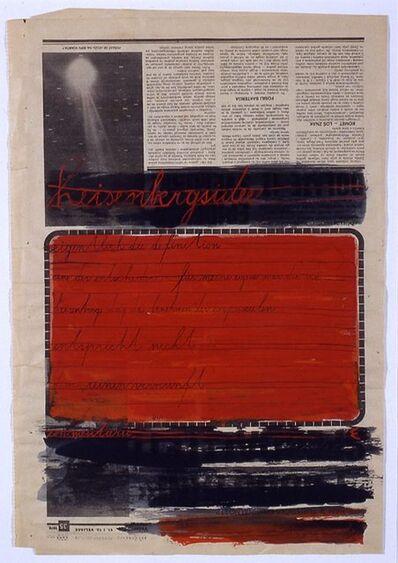 Dimitrije Bašičević Mangelos, 'Heisenbergsidee', 1978
