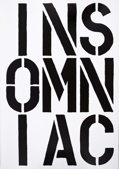 Christopher Wool, 'Christopher Wool, INSOMNIAC, screenprint, signed, 1989', 1989